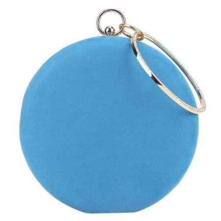 Amazon.com: Fawziya Velvet Ring Handle Clutch Crystal Evening Bags And Clutches-Lake Blue: Clothing