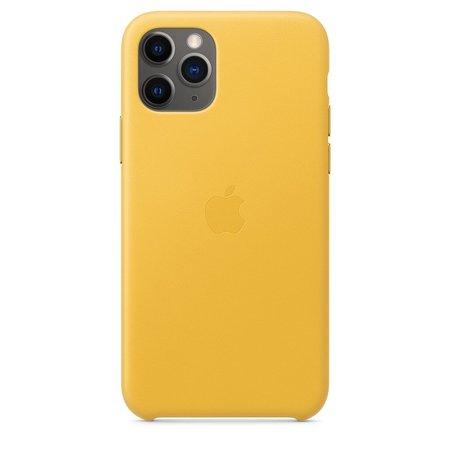 iPhone 11 Pro Leather Case - Meyer Lemon - Apple