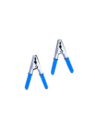 blue clamp earrings – Trash Queen