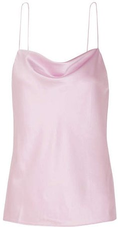 The Axel Draped Stretch-silk Charmeuse Camisole - Pink