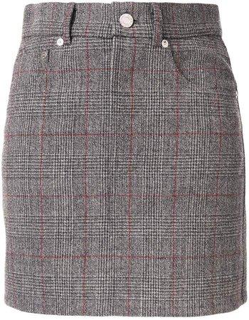 Femme denim-style mini skirt