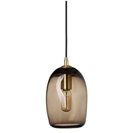 Casamotion Pendant Lighting Handblown Glass Drop Ceiling Lights, Organic Contemporary Style Hanging Light, Grey Blue Glass Shade, Brushed Nickel Finish, 1 Light - - AmazonSmile