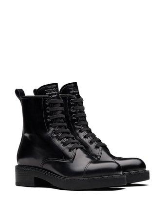 Prada lace-up ankle boots black 1T360MFB050ULS - Farfetch