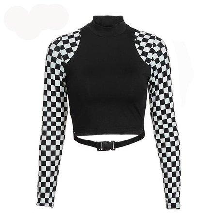crop top checkered