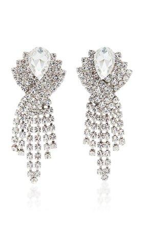 Crystal Fringe Earrings by Alessandra Rich | Moda Operandi