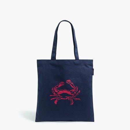 Canvas shopper tote bag