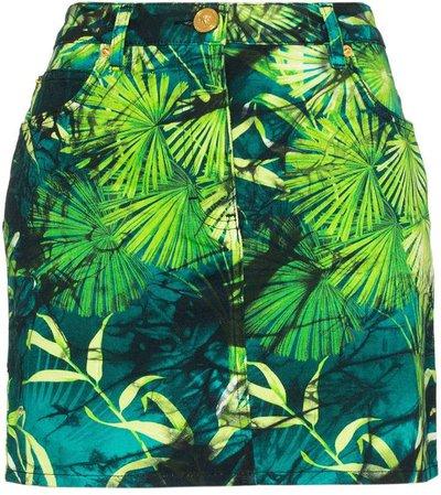 Jungle print mini skirt