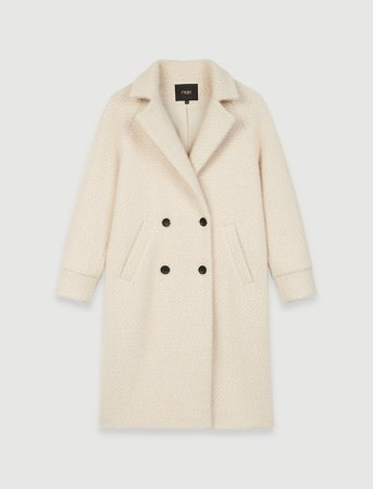 120GABYNA Double-breasted tricotine coat - Coats & Jackets - Maje.com