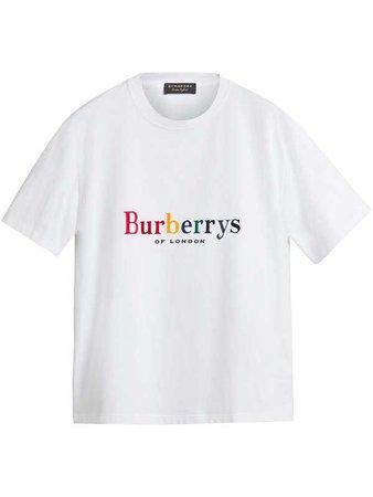 BURBERRY reissued 1995 rainbow logo T-shirt