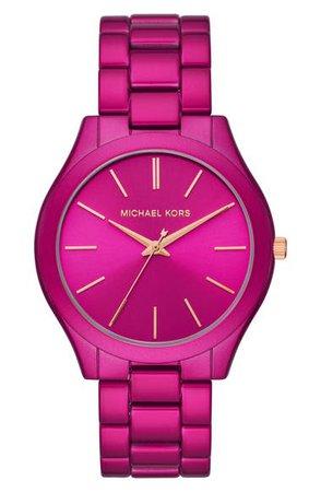 Michael Kors 'Slim Runway' Bracelet Watch, 42mm   Nordstrom