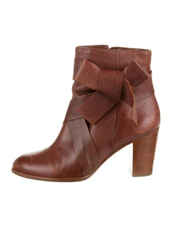 Kate Spade New York Leather Round-Toe Boots - Shoes - WKA155849 | The RealReal