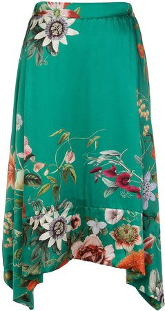 Madison.Maison Lynn floral-print silk skirt