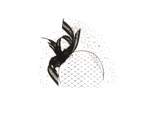 Philip Treacy London   Ornate Buntal Bow   Black and Headpieces   LOVEHATS.COM