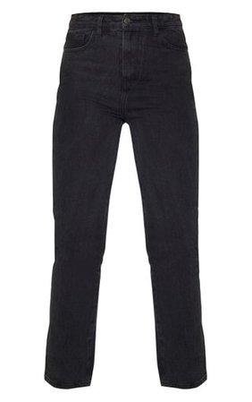 Prettylittlething Tall Black Straight Leg Jeans   PrettyLittleThing