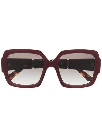 Shop red Prada Eyewear oversized-frame sunglasses with Afterpay - Farfetch Australia