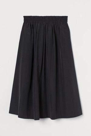Calf-length Skirt - Black