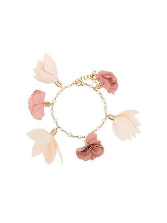 Rosantica Sentiero Flower Charm Bracelet 1112BRORFIOCIPR Pink | Farfetch