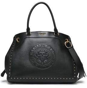 Studded Embossed Leather Tote