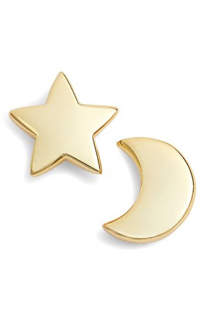 Argento Vivo Moon & Star Stud Earrings | Nordstrom