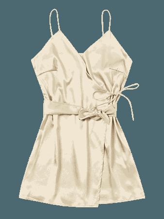 Self Tie Bowknot Cami Dress