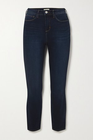 Margot Cropped High-rise Skinny Jeans - Blue