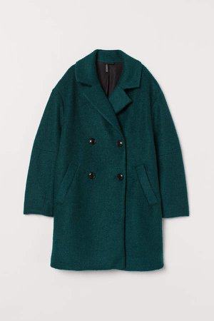Double-breasted Coat - Green