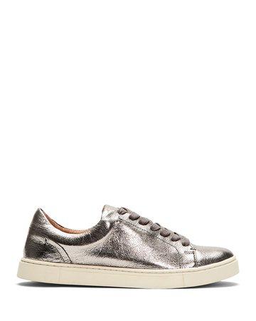 Frye Ivy Metallic Leather Court Sneakers