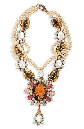 Anna Sui Tiered Cameo Necklace | Nordstrom
