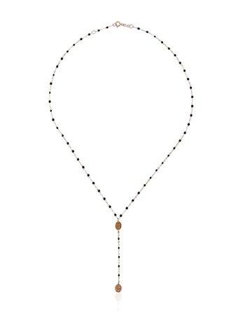 Gigi Clozeau Black RG Madone Rose Gold Necklace - Farfetch