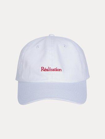 Real Logo Cap | White Baseball Cap | Réalisation Par