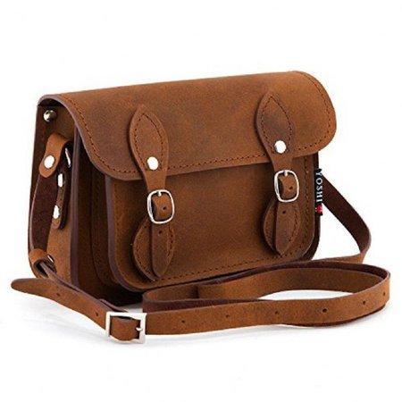 Brown Hunter Leather Mini Satchel Bag