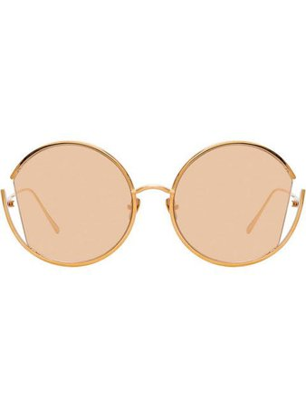 Linda Farrow round cut-out frame sunglasses $716 - Buy Online SS19 - Quick Shipping, Price