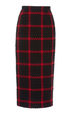 Alessandra Rich | checked tweed skirt
