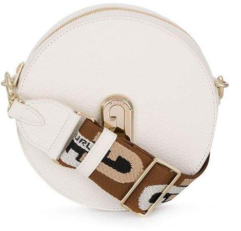 Sleek round crossbody bag