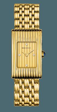 reflet small yellow gold bracelet watch