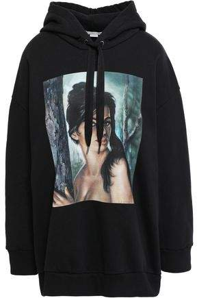 Oversized Printed French Cotton-terry Hoodie