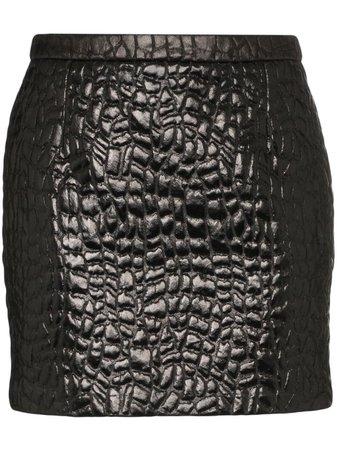 Saint Laurent crocodile-embossed Mini Skirt - Farfetch