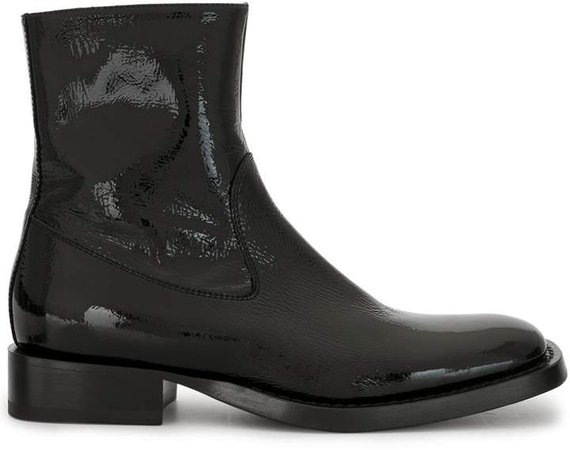 Vernice Crinkle ankle boots
