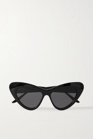 Black Cat-eye acetate sunglasses | Gucci | NET-A-PORTER