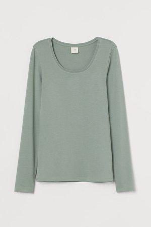 Long-sleeved Top - Green