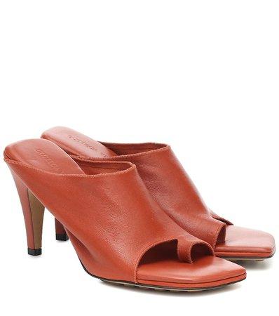 Bottega Veneta - Leather sandals | Mytheresa