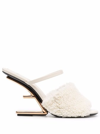 Fendi Fendi First Shearling Sandals - Farfetch