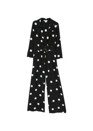 MANGO Polka-dot long jumpsuit