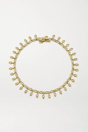 Gold Evil Eye Eternity 14-karat gold diamond bracelet   Sydney Evan   NET-A-PORTER