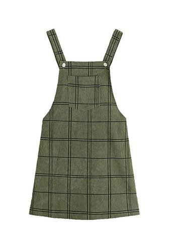 Floerns Women's Cute Strap Button up Corduroy Overall Sheath Pinafore Dress at Amazon Women's Clothing store