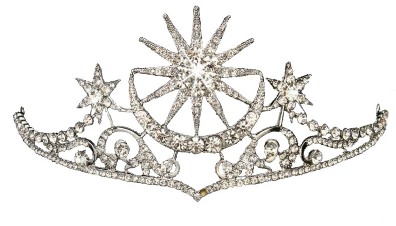 celestial silver tiara