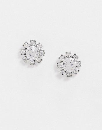 True Decadence stud earrings in crystal flower | ASOS