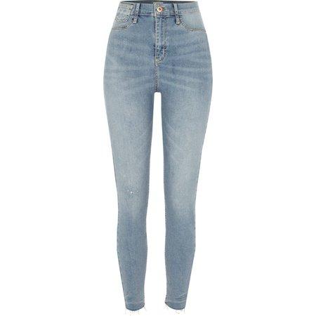 Blue high waisted super skinny Harper jeans - Skinny Jeans - Jeans - women