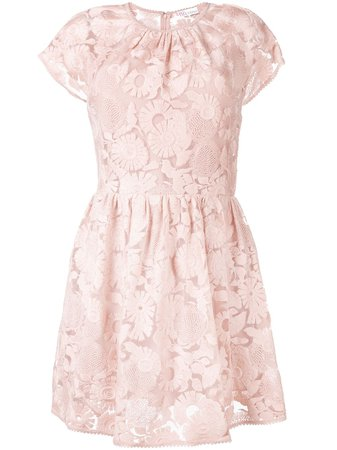 Redvalentino Floral Lace Mini Dress Ss19