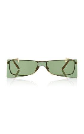 Gold-Tone Metal Cat-Eye Sunglasses by Gucci | Moda Operandi